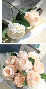 Artificial Rose Fake Rose Dried Flowers Silk Flowers Artificial Plants for Wedding Decoration Decorative Flowers