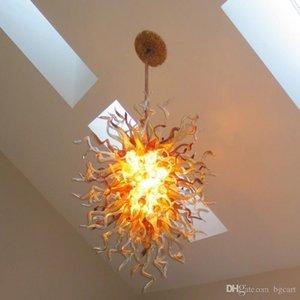 RED الذهب الشكل اليد في مهب زجاج الديكور كريستال قلادة ضوء LED اللوبي معيشة غرفة نوم سقف الأنوار زجاج مورانو الثريا