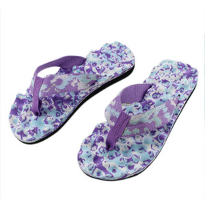 Women New Wholesale Customize Ladies Slim Women's Floral Beach Flip Flops Female Shoes Bath Slippers Woman Slippers Summer For Ladies Hot
