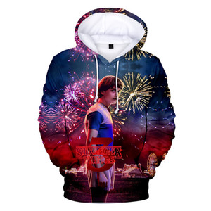 Dropship 2019 Hoodie Stranger Things Saison 3 Sweat-shirt Série TV Hot Men Stranger Things 3D Print Hoodies hiver chaud Tops