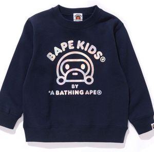 Camiseta de los niños diseñador tamaño del patrón del mono lindo de chicas Jerseys activos Letters Los hoodies de los niños de la marca de ropa de la venta caliente 3 Estilo 90-130