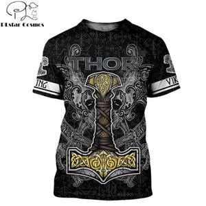 2020 été Mode Hommes Viking T-shirt tatouage Odin 3D imprimé Harajuku manches courtes T-shirts unisexe maillots de sport Drop shipping