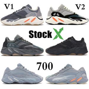 Teal Blue Wave Runner 700 Kanye West Мужские Женские дизайнерские туфли Магнит Solid Gray Больница Синий Статический Сиреневый Инерция V2 Спорт Кроссовки 36-46