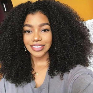 Afro Curly Synthetic Lace Front Wig for Women, lace front Heat Resistant Fiber