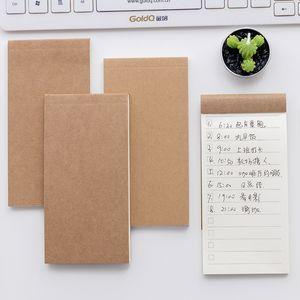 50 Blatt Tasche Kraftpapier Notizblock Notizblock Briefpapier Scrapbooking Memo Notizen Riss Checkliste Notizen