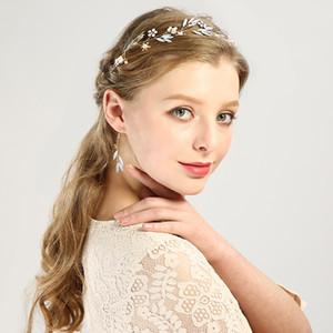 Wedding Crown Queen Bridal Tiaras Bride Crown with Earrings Headbands Wedding Accessories diadem mariage Hair Jewelry Ornaments