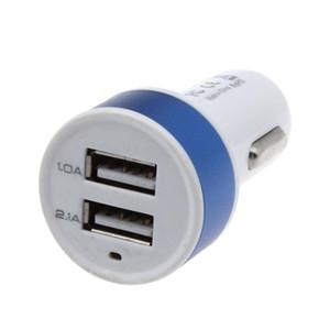 Car DHL di alta qualità accessori 5V 1A 2.1A Dual USB caricatore per il telefono 5 6 caricabatterie per auto Nokia GPS oro per il telefono mobile Android telefono