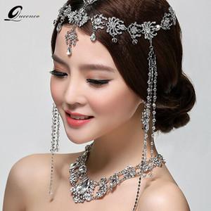 Chaîne De Mode De Mariage De Tiara De Mariée Cheveux Ornements De Bijoux De Mariée Cristal Tassel Cheveux Accessoires Femme Coiffure J190701