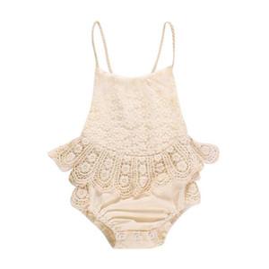 Baby Girl Abbigliamento Pagliaccetto Summer Summer Summer Lace Rompere 100% Cotton Kids Romper Girl Abbigliamento