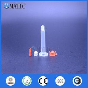Livraison gratuite en gros 2500 Pcs 3cc 3ml Colle liquide de distribution pneumatique seringue Sets avec canon / piston / Seringue Stopper