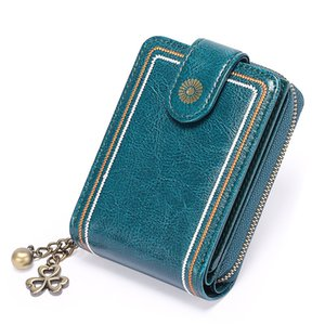 Genuine Leather cowleather elegant Men Wallets Coin Purse Small Mini Card Holder female women ladies lady birthday gifts Male multi Pockets