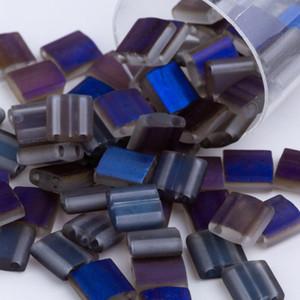 5 grammi / bag Circa 55pcs braccialetto di vetro Perle Tila 5x5x1.9mm opaco artigianale per monili che fanno Beadwork braccialetto Handmade