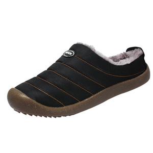 WENYUJH Зимняя Мужская обувь плюшевые мужские тапочки флис теплый мех сгущает хлопок-мягкий домашний тапок крытый плоский ботинок большой размер обуви