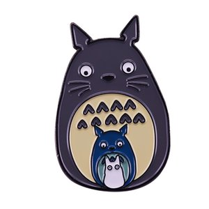 Large Middle Small Totoro enamel pin Studio Ghibli anime fans great addition