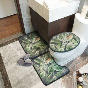 Hoja de inodoro Caso vintage Bath Ins abrigo Casa Inodoro Hogar Hoteles Cubiertas Estilo de moda Asiento Verde Estera Impresa Pispr