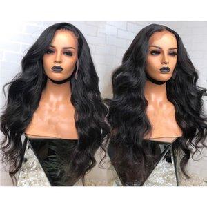 Big Body Wave Lace Front Perücken Pre gezupft Haaransatz Hand gebunden Glueless volle Spitze Echthaar Perücken Wasserwelle brasilianisches Haar 150% Dichte