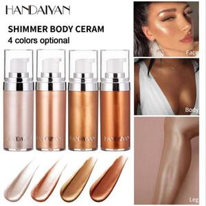 HANDAIYAN 20ML Shimmer crema corporal para todo el rostro y crema para resaltar el cuerpo 4 colores para la opción de maquillaje facial / corporal