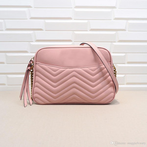 Logo Designer Marca geniue ombro de couro Bolsas Cadeia TOP de Qualidade de Ondas, Feminino Ladies' Drop Shipping Básico Corssbody Bag