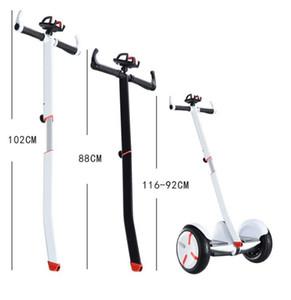 Ninebot 소형 직업적인 세그웨이 ninebot 소형 스쿠터를 위한 전화 부류를 가진 백색과 까만 조정가능한 자전거 핸들