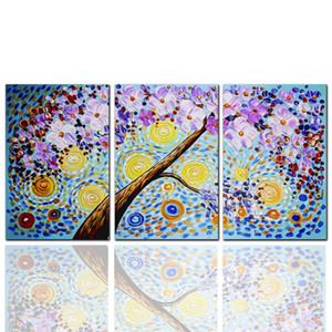 Obra de arte de Gustav Klimt Reproducción El árbol Pintura al óleo Imagen de arte de pared Decoración de pared 3 piezas