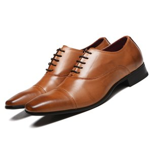 Men Shoes New Arrival Dress Shoes High Quality Business Leather Lace-up Footwear Formal Shoes for Wedding 2019 New