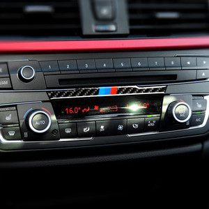 Панель Carbon Fiber CD-плеер Кондиционер Vent Center Console Панель Наклейка для BMW 3 серии F30 3GT F34