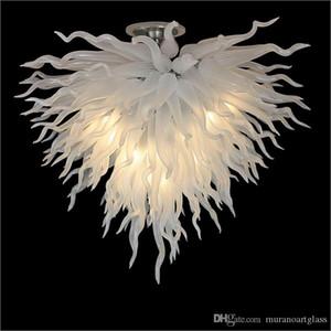 2019 새로운 도착 플러시 마운트 Ceicling 빛 꽃 디자인 천장 장식 입 불어 유리 샹들리에 조명