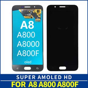 AMOLED pantalla del LCD para Samsung A8 2015 A8000 A800 A800F Pantalla LCD de pantalla táctil digitalizador Asamblea A8 LCD de repuesto