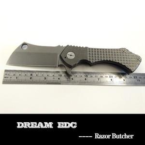 Rad Cleaver Razor EDC coltello pieghevole S35VN lama della maniglia di titanio tasca attrezzi esterni di campeggio di sopravvivenza di caccia Autodifesa trasporto libero