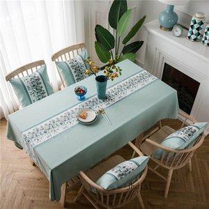 Inicio Mantel diaria decoración raya de la moda retro Mantel Material Pareja Candlelight Dinner Table tela impermeable antideslizante estera de tabla