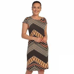 Small Sleeves Dress Black Female Pattern Lire 646 1256 Ship from Turkey