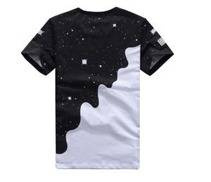 Fashion-New 2016 Mens Summer Tees Plus Size Short Sleeve T Shirt Milk Printed Cotton T-shirt 3D Designer Clothing M-XXL Golf Tshirt