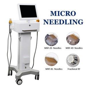 macchina di bellezza placcatura microneedling RF 2021 oro frazionato micro rughe aghi di gallina rimozione piedi approvazione dispositivo CE