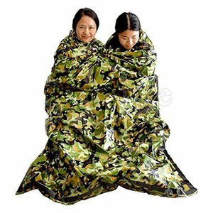 Camuflaje Supervivencia Saco de dormir de emergencia Mantener caliente Impermeable Mylar Primeros auxilios Carpa de emergencia Manta Camping al aire libre DHL gratis