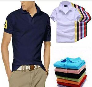 Designer 2018 Nuevo Polo camisa de los hombres de alta calidad de cocodrilo bordado grande del logotipo del tamaño S-6XL de manga corta de verano las camisas sport de algodón para hombre del polo