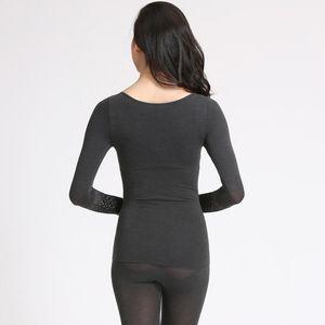 Self-heating fiber seamless body sculpting body thermal underwear women's thin section suit tube top Qiuyi Qiuku women