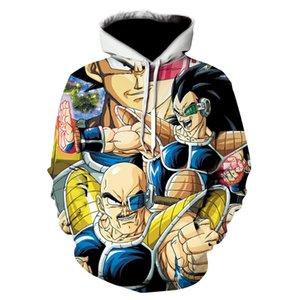 Hommes 3D Anime Sweats à capuche Dragon Ball Z à capuche Pocket Homme Enfants Goku Vegeta imprimés Sweats à capuche Garçons Pulls Survêtements