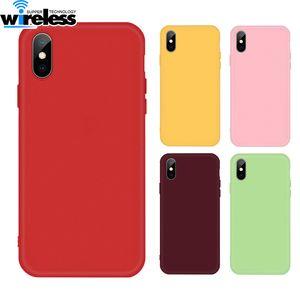 Soft thin phone Case for Apple iphone XS MAX XR X 7 8 6 6s Plus TPU Silicone cover Original fundas