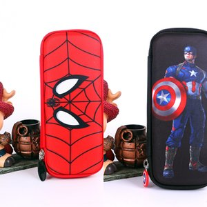 box box Spider-Man Captain America hard large capacity pencil case for boys and pupils pencil case