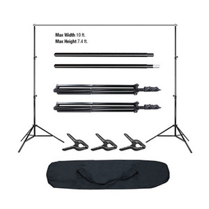 High Quality 10Ft Pro Photography Photo Adjustable Background Support Stand Photo Backdrop Crossbar Kit US in Stock