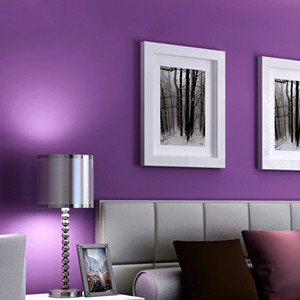Purple wallpaper violet modern minimalist pure pigment color bedroom living room dining room noble background wall paper
