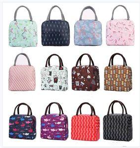 Oxford Lunch Bag Moda portátil con aislamiento térmico Comida Picnic Lunch Bags for Women kids Men Cooler Lunch Box Bag Tote Regalos Envío Gratis