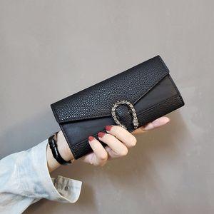 Tasarımcı üst seviye çanta fabrika satış ücretsiz gönderim seçim uzun PU Bayan cüzdan çoklu kart yuvası bayanlar torbaları 6 renk cüzdanlar