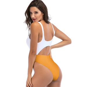 Hot One Piece Swimsuit Sexy Swimwear Women Bathing Suit Swim Vintage Summer Beach Wear Solid Stripe Monokini Swimsuit High Waist