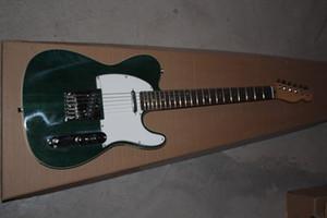الشحن مجانا عالية الجودة الجملة الجديدة TELE التلون الظلام الخضراء القيثارات الكهربائية الغيتار في الأوراق المالية