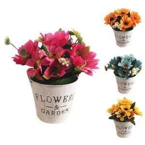 Yapay Sun Flower Sahte Bitki Bonsai Canlı Simülasyonu (Pot ile) Çiçekler Restoran Otel Ev Shop Cafe Dekor