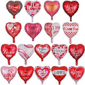 18 pulgadas de día de San Valentín globos te amo globos de boda globos decorativos de aluminio película de cumpleaños niños juguete rra2818