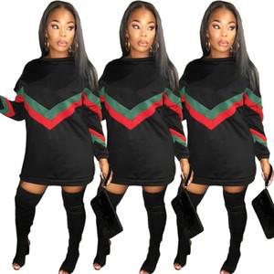 Womens Coat Hoodie Designer supera lo strato Europa Gli Stati Uniti Nightclub Abbigliamento Air Cuciture Stripe lunga cerniera Sezione Sweater Dress