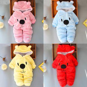 mamelucos del bebé 4 colores para bebé ropa de diseño para niño recién nacido niña ropa de otoño invierno de las muchachas del mono de trajes para la nieve JY984