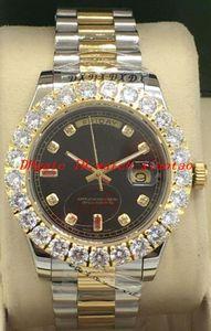 El reloj de lujo 4 Estilo Dos 41mm tono de marcación más grande diamante / 118348 bisel RELOJ DE PECHO SIN USO automática marca de moda de los hombres del reloj del reloj